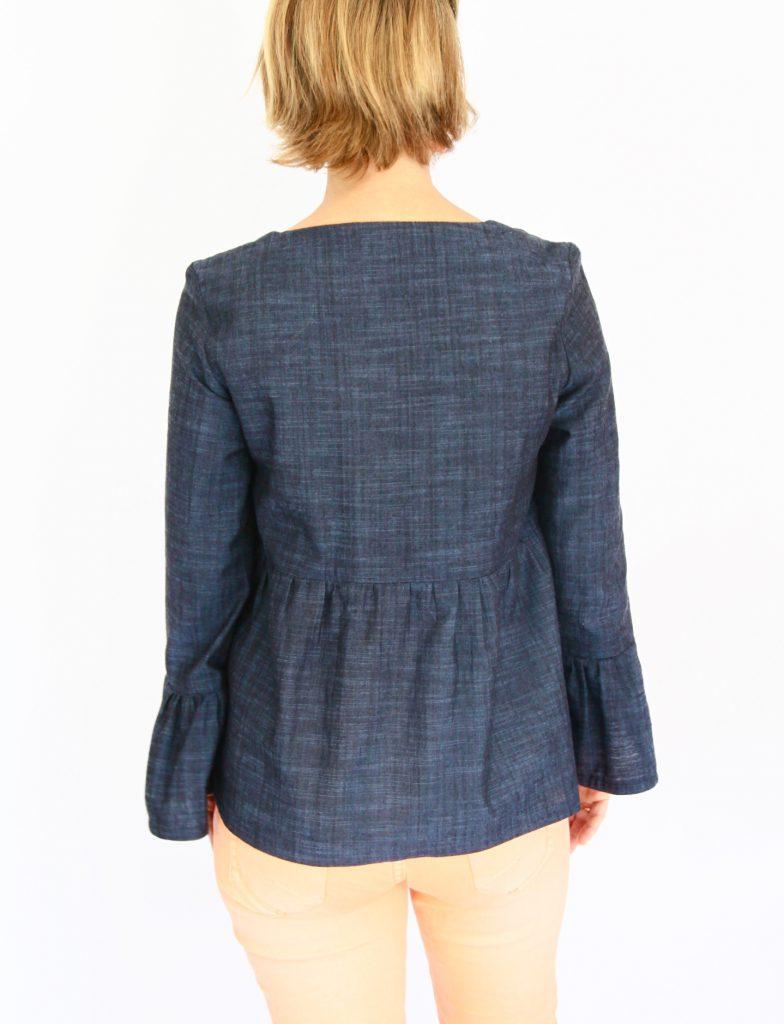 Patron de couture modèle blouse par La Jolie Girafe