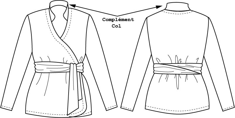 Patron complémentaire Basic 4 Cache-coeur / Le Col