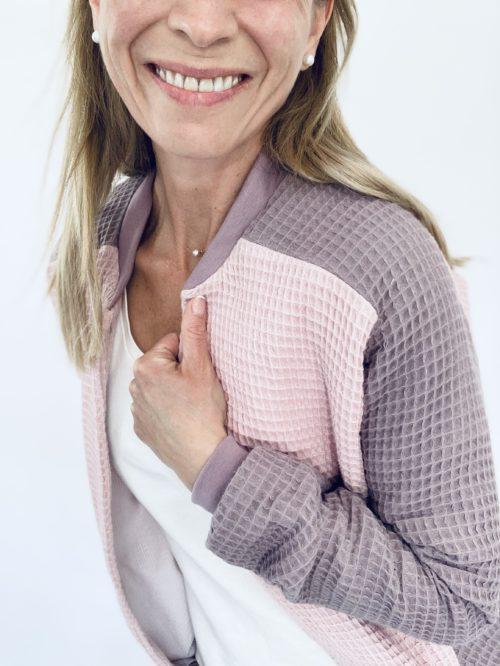 Patron de couture PDF blouson femme Rosemonde bi color